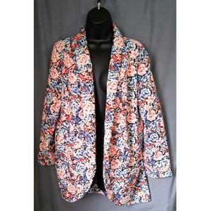 Lush Bright Floral Blazer XL